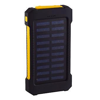Stuff Certified® Solar Charger 30.000mAh External Power Bank Solar Panel Emergency Battery Battery Charger Yellow