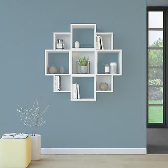 Iris White Color plank in Melaminic 90x22x90 cm