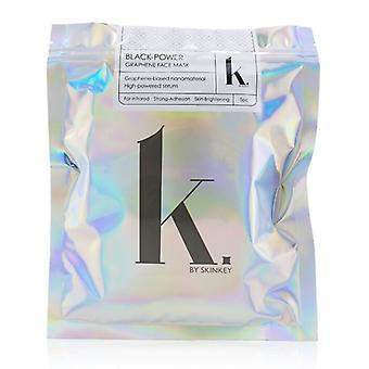 SKINKEY K. Series Black-Power Graphene Face Mask - Far-Infared, Strong-Adhesion & Skin-Brightening 5pcs