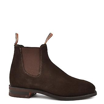 R.M. Williams Suede Comfort Craftsman Chocolate Chelsea Boots