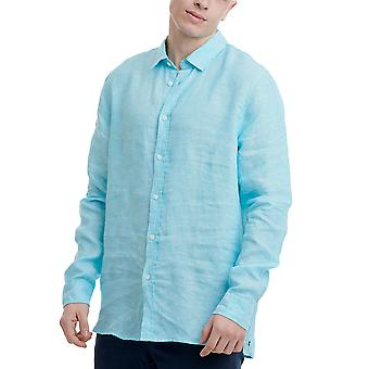 Funky Buddha Men's Shirt In Plain Pattern