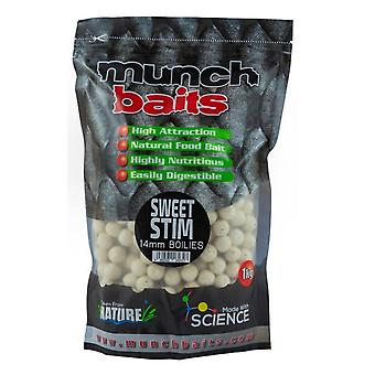 Munch Sweet Stim Boilies 14Mm 1Kg Natural