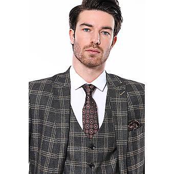 Black checked slim-fit blazer