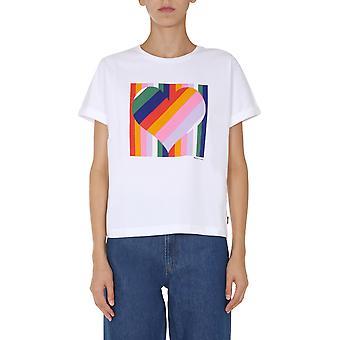 Ps Door Paul Smith W2r179vep200001 Women's White Cotton T-shirt