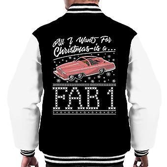 Thunderbirds All I Want For Christmas Is A FAB 1 Men's Varsity Jacket