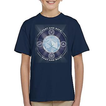 The Crystal Maze Shining Core Kid's T-Shirt