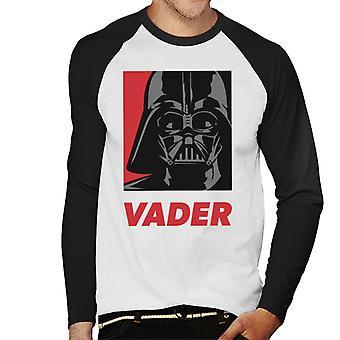 Star Wars Vader Men's Béisbol camiseta de manga larga