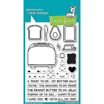 Lawn Fawn Let's Toast Clear Stamps