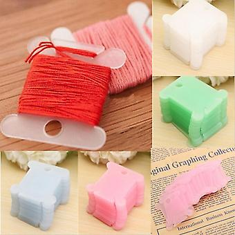 Plastic Silk Thread Bobbins - Embroidery Floss Craft Storage, Cross Stitch