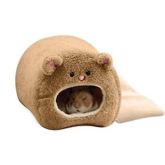 Warm Bed Rat Hammock Squirrel Winter Pet Toy Hamster Cage House Hanging Nest+mat