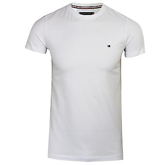 Tommy hilfiger men's heldere witte kern stretch t-shirt