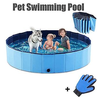 Foldable Pet Swimming Pool Bath Tub Bathtub For Dogs Cats Kids