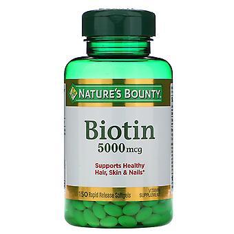 Nature's Bounty, Biotin, 5,000 mcg, 150 Rapid Release Softgels