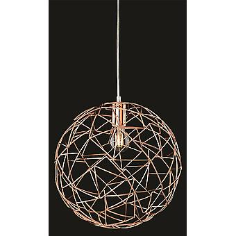 Firstlight Praga - 1 Lys sfærisk wire loft vedhæng Kobber, E27