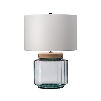 Bordlampe - Naturlig, poleret nikkel, glas