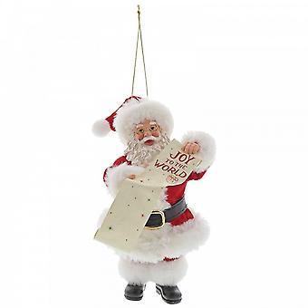 Department 56 Joy To The World Hanging Santa Ornament