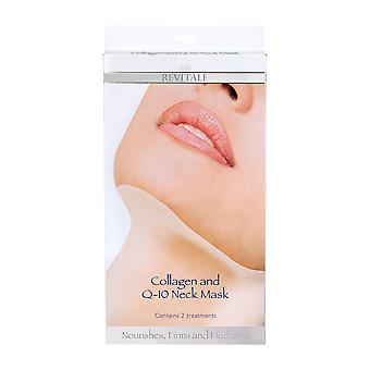 Revitale Collagen and Q-10 Neck Mask, Nourishes, Firms, Hydrates - 2 Treatments