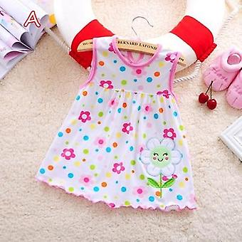 Sleeveless A-line Dresses Casual Clothing Mini Princess Cute Dress Cotton Baby