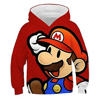3d Print Super Mario Hoodie Kids Casual Girls Clothes Pullover Sportswear