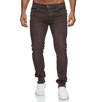 Men's Jeans Slim Fit Stretch Used Look Basic Color Casual Casual Comfort Brown