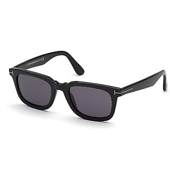 Tom Ford Dario TF817-N 01A Shiny Black/Smoke Zonnebril