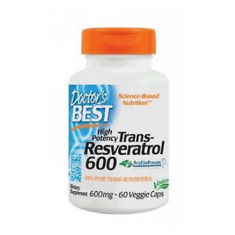 Lääkärit Paras Trans-Resveratrol, 600 mg, 60 Veggi Caps