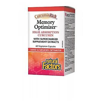 Natural Factors CurcuminRich & Memory Curcumizer, 60 Veg Caps