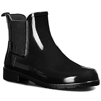Womens Hunter Original Refined Chelsea Gloss Waterproof Rain Ankle Boots