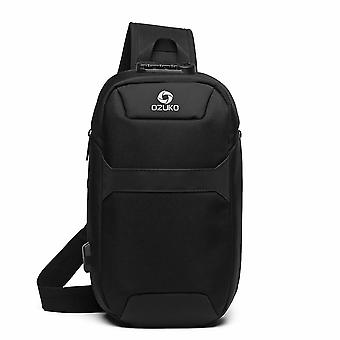 Portable Multi-function Chest Bag, Anti-theft, Usb Charge Port With Lock
