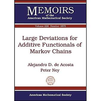 Large Deviations for Additive Functionals of Markov Chains (Memoirs of the American Mathematical Society)