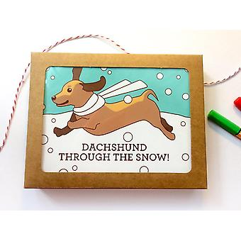 Dachshund Through The Snow-holiday Cards