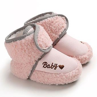 Inverno caldo, primi camminatori, suola morbida in cotone, scarpe per interni per neonati, bambini