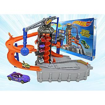 City Adventure Electric Scene Track Set Toy, Giant Motorized Action