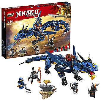 Lego 70652 ninjago stormbringer dragon toy, maestri dell'action figure spinjitzu