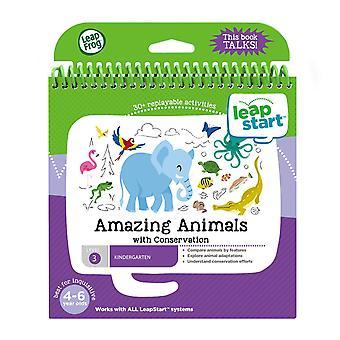 Leapfrog 21608 leapstart recepção animais incríveis e livro de atividades de conservação