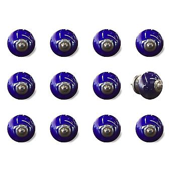"""1.5"""" x 1.5"""" x 1.5"""" Navy and Copper  Knobs 12 Pack"""