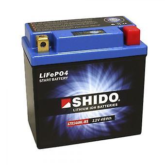 Shido Motorcycle Lithium Iron Battery LiFePO4 12V 4Ah 1 1kg 134x75x168mm