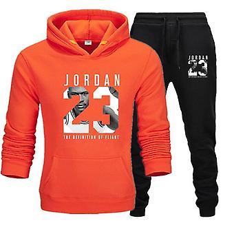 Men Jordan 23 Tracksuit Sweatshirt Suit Fleece Hoodie+sweatpants