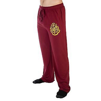 Harry potter hogwarts crest burgundy sleep lounge pants