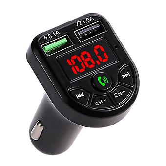 Fm Transmitter Bluetooth/display Dual Usb Charger, Port Usb Mp3 Music Player