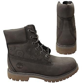 Timberland 6-calowy premium szary skóra nubuk koronki do buty damskie A1K3P X31B