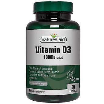 Nature's Aid Vitamin D3 1000iu Vegan Tabs 60 (144620)