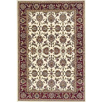 2' x 3' Polypropylene Ivory or Red Accent Rug