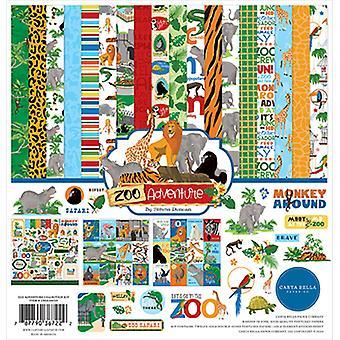 """كارتا بيلا مجموعة كيت 12 """"X12"""" - مغامرة حديقة الحيوان"""