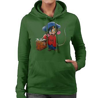 Ein amerikanischer Schwanz Fievel Mousekewitz und Koffer Frauen's Kapuzen Sweatshirt