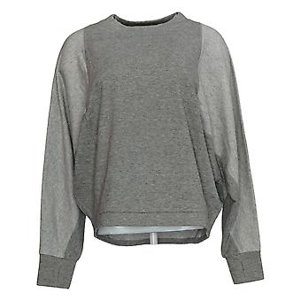 Anyone Women's Sweater Scoop Neck Manches longues W/ Thumbholes Gray A384065