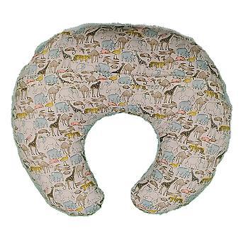 C poliéster tapizado bebé enfermería almohada con estampado animal, multicolor