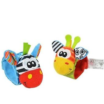 Baby Infant Soft Toy, Wrist Rattles Finders Developmental Bells Foot Sock