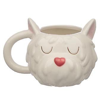 Squadra cane in ceramica westie testa tazza da collezione