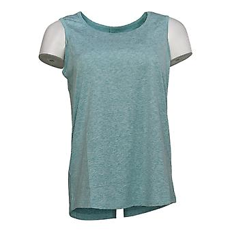 Anybody Women's Top Move Active Stretch Tank Cutout Back Blue A349819